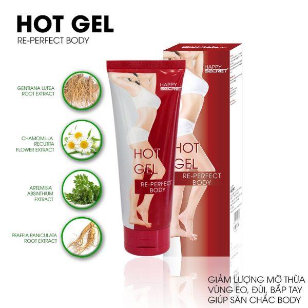 Top White hot gel tan mỡ vùng eo đùi bắp tay
