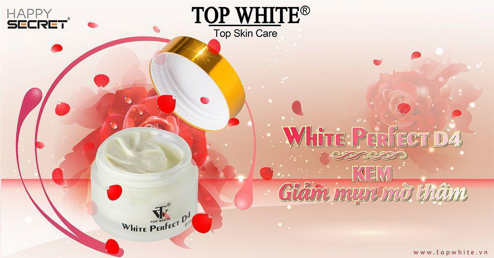 Top White kem trị mụn trắng da