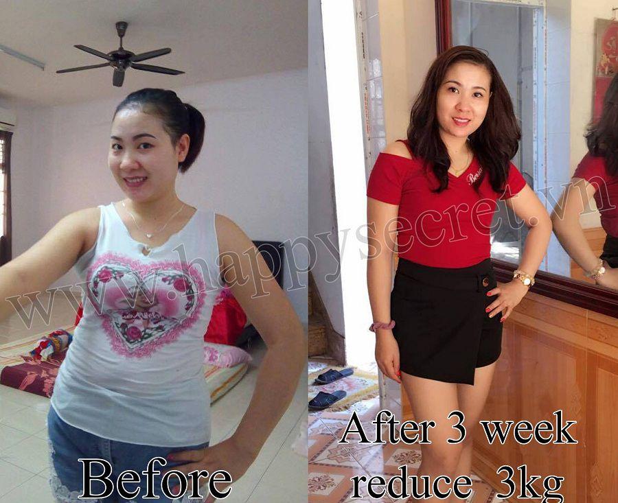 top white khách hàng trước và sau khi dùng giảm cân