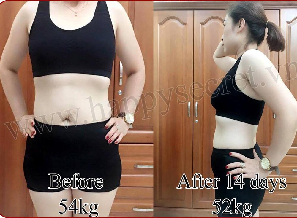 Vòng bụng phẳng lỳ sau khi dùng viên uống giảm cân N1