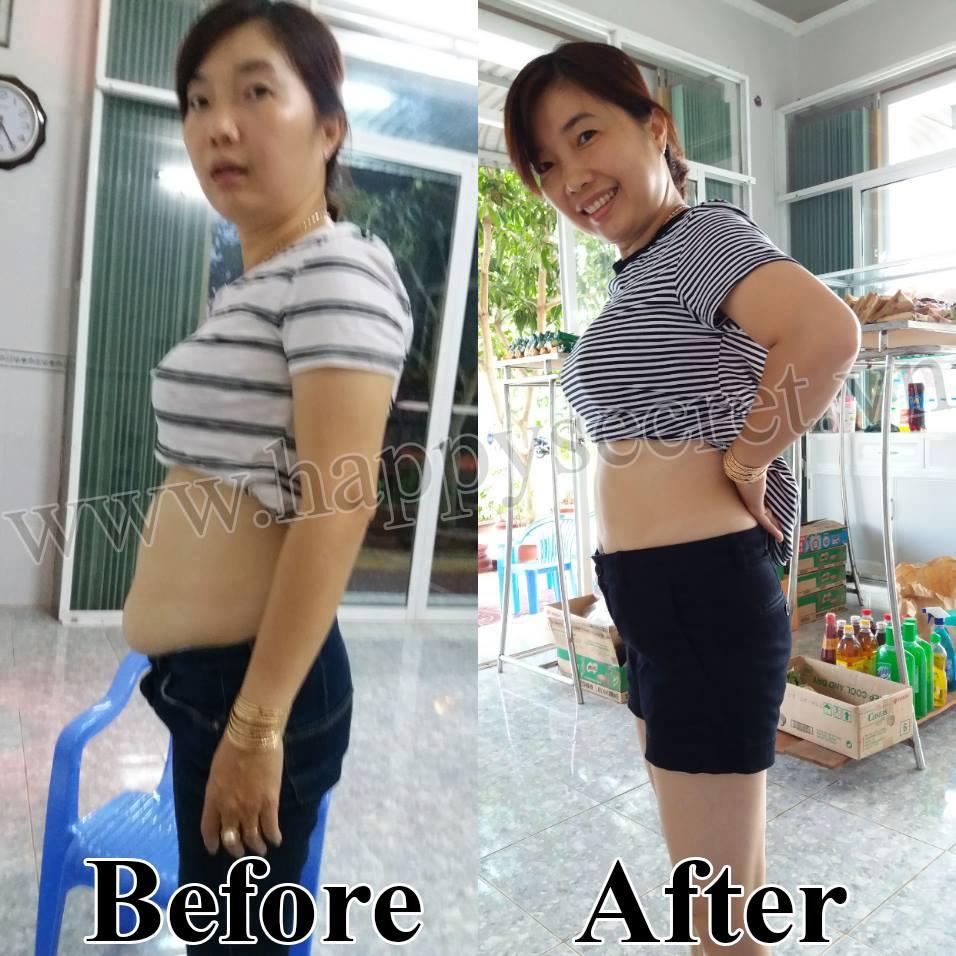 Hình ảnh khách hàng dùng viên uống giảm cân