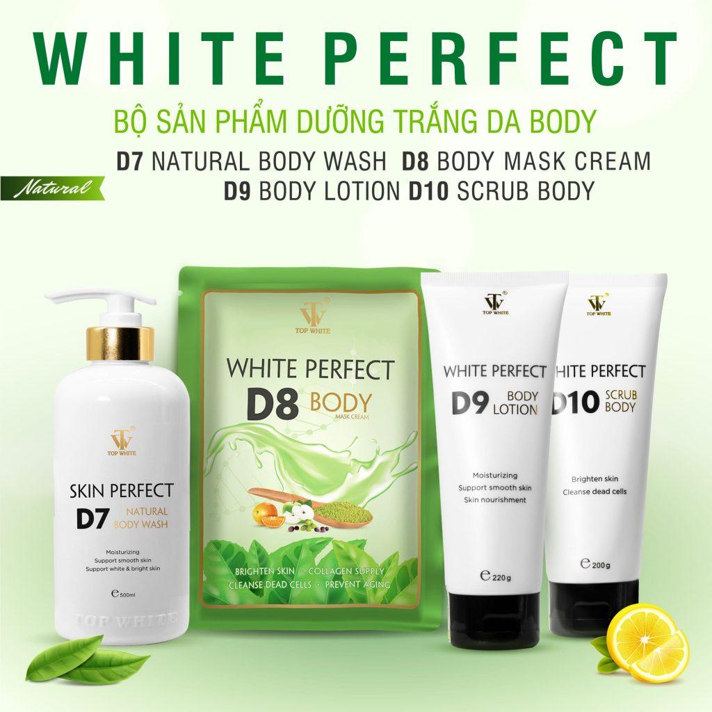 Sữa tắm trắng da White Perfect D7