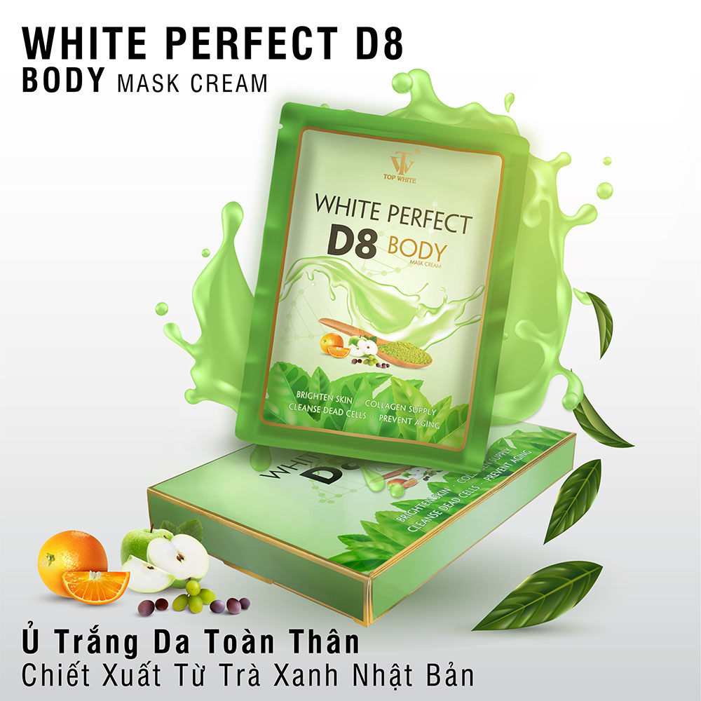 Kem tắm trắng Top White D8
