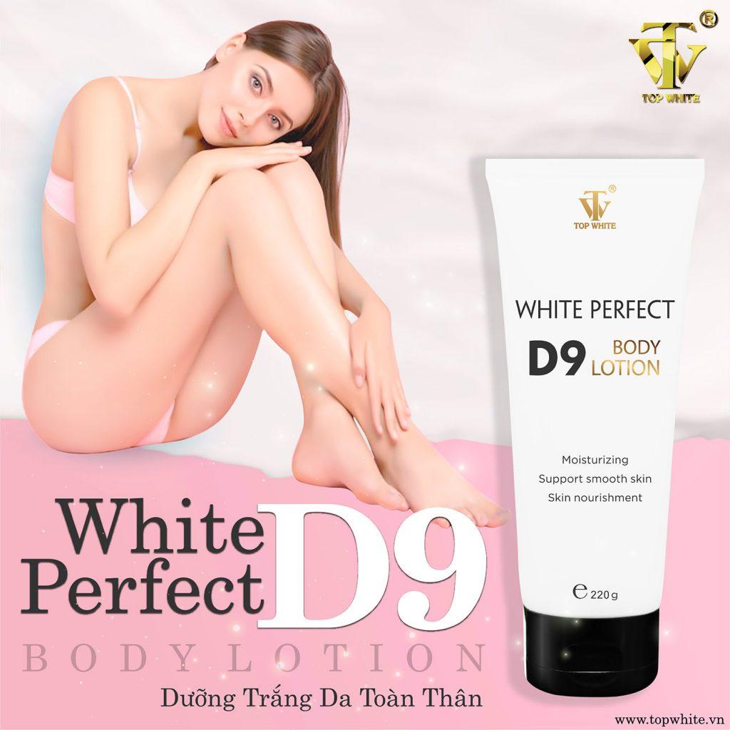 Kem dưỡng trắng da toàn thân White Perfect Body D9 – Diện mạo mới