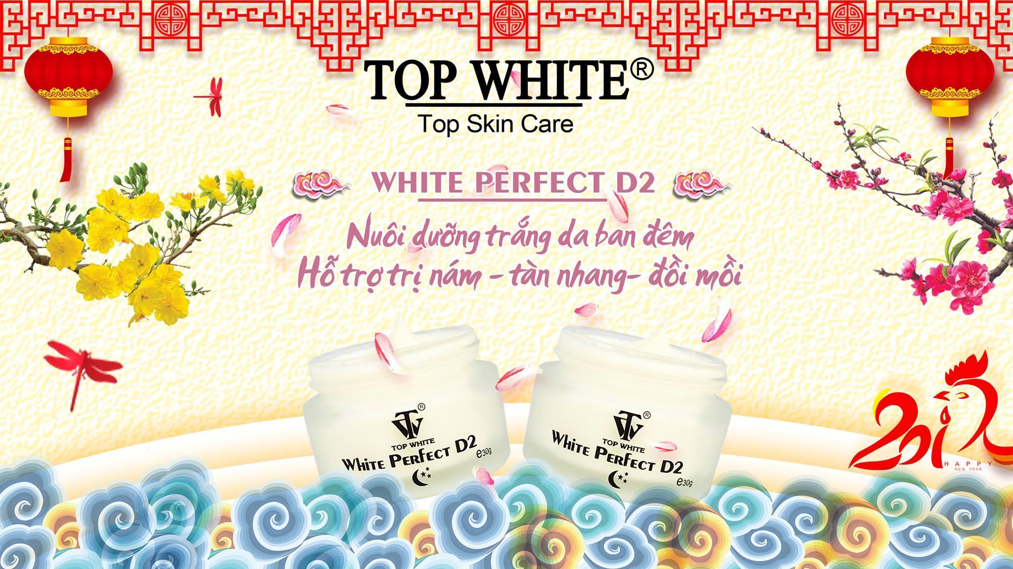 Top White kem dưỡng trắng da ban đêm White Perfect D2