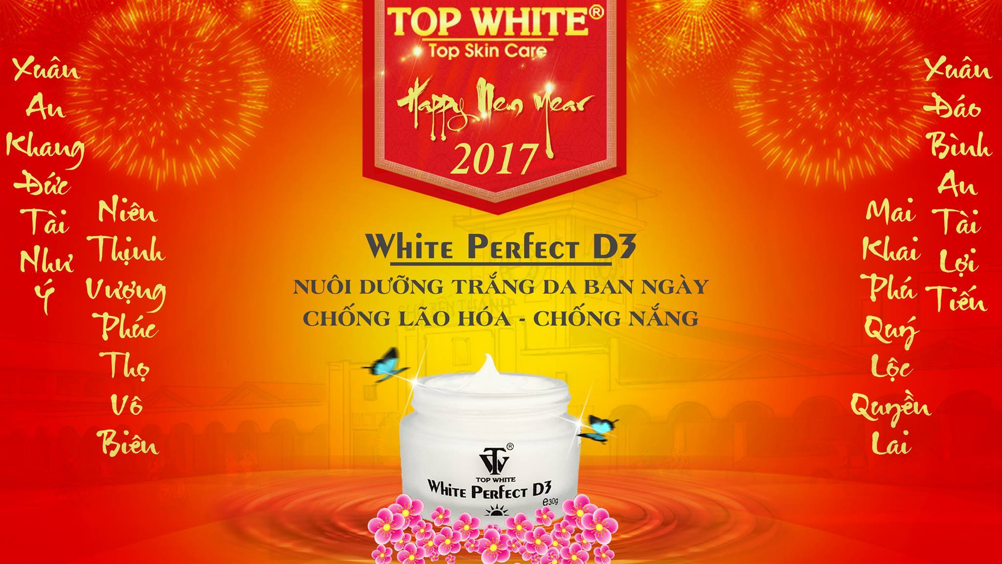 Top White kem chống nắng White Perfect D3