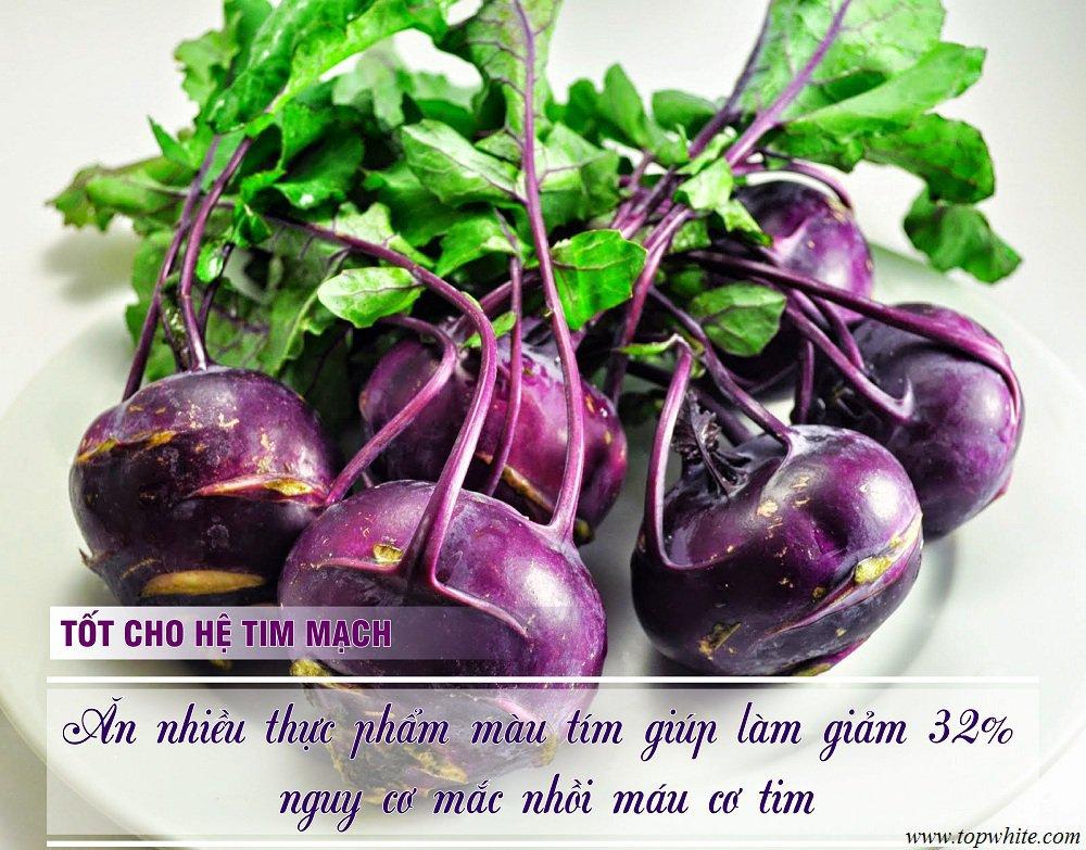 Top White thực phẩm màu tím