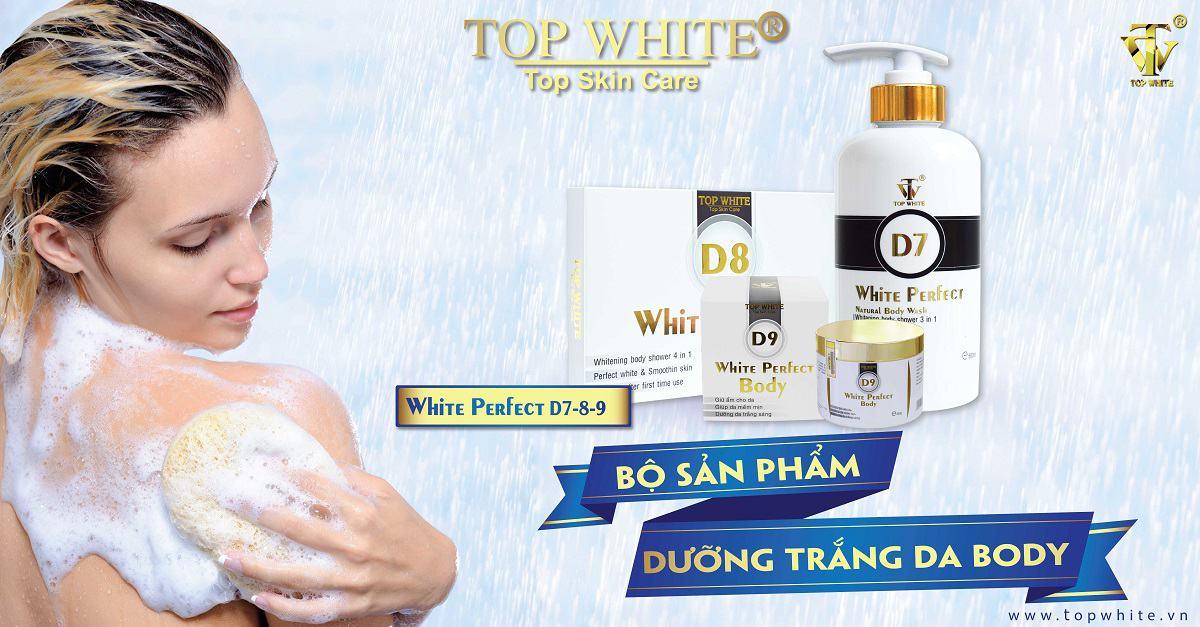 top white bộ ba dưỡng trắng toàn thân d7 d8 d9