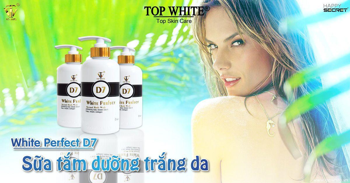Top White sữa tắm trắng da hiệu quả